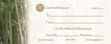 Massage Gift Card Template - free printable gift certificate templates for massage lamoureph blog