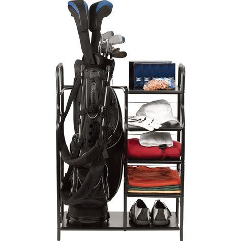 Golf Bag Garage Organizer by Golf Bag Organizer Lets You Play Through Your Storage Issues