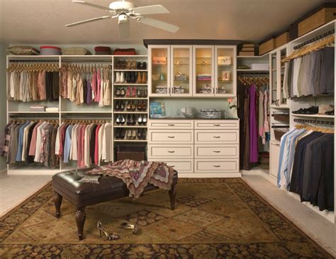 Custom Walk In Closets Custom Walk In Closet Organizers Antique White
