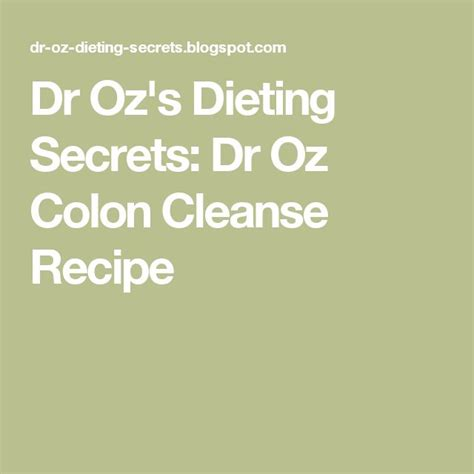 Liquid Cleanse Detox Dr Oz by 100 Colon Cleanse Recipes On Stomach Cleanse