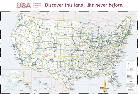large us road map usa map