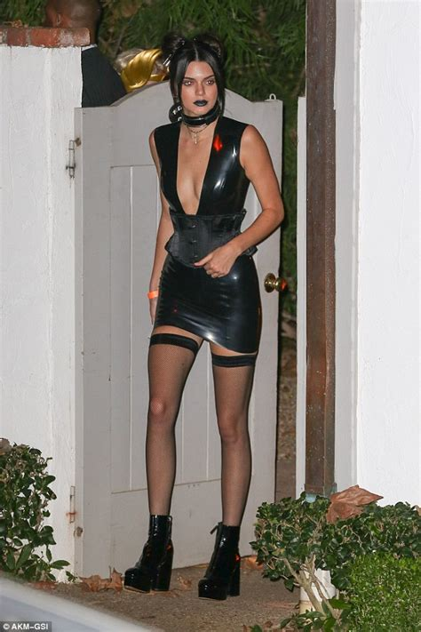 katherine johnson halloween costume kendall jenner flaunts her legs in a dominatrix dress at