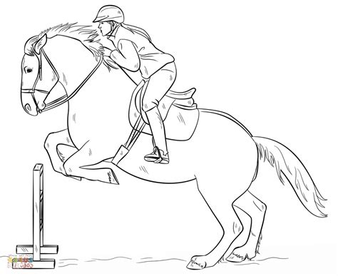 horse jumping coloring pages to print coloring page kids