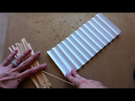 How To Make Paper Fans With Popsicle Sticks - handmade paper fan tutorial