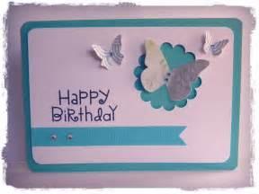 Birthday Handmade Cards - happy birthday aqua