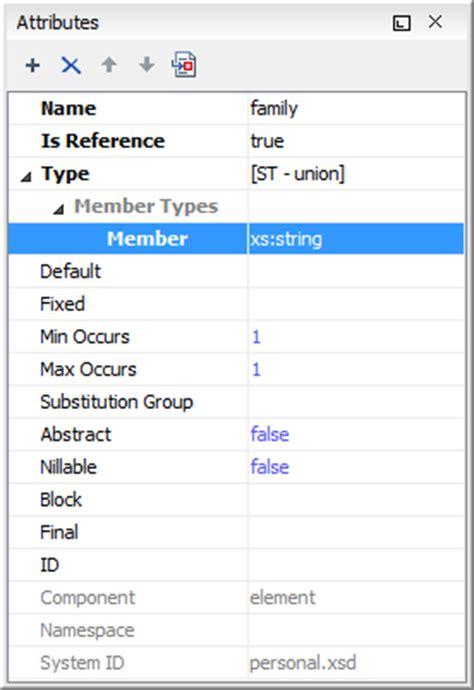 pattern facet xml schema visual xml schema diagram editor design mode