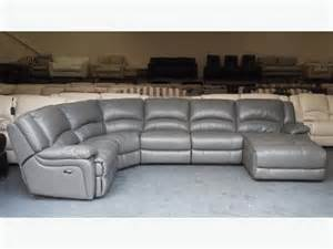 Leather Chaise Recliner Ronson Dark Grey Leather Electric Recliner Corner Sofa