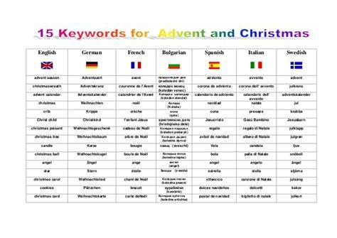 15 keywords for advent and christmas