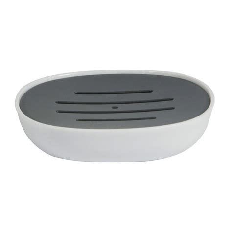 White Plastic Bathroom Accessories by Buy White Grey Plastic 4 Quot Kuba Quot Bathroom Accessory