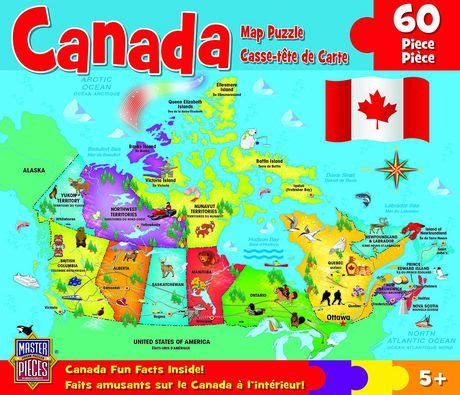 canadian hometown map puzzle masterpieces canada map jigsaw puzzle 60 walmart