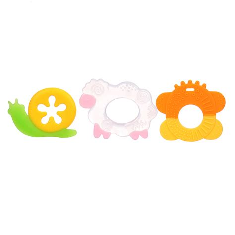 Baby Teether Lovely Animal Shapes animal shaped silicone baby teether