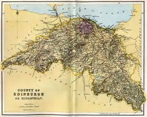 county of edinburgh or midlothian map