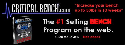 quickest way to increase bench press critical bench program 2 easiest way to skyrocket your