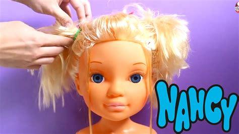 how to comb my girl doll hair hairbrush hairstyle dolls how to comb my girl doll hair with hairbrush nancy doll