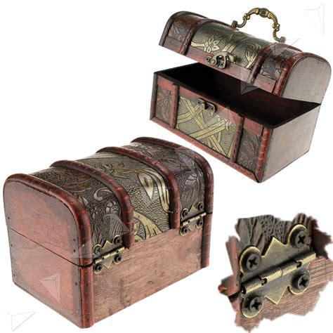 Wooden Pirate Storage Box Vintage Treasure Chest 3 x wooden pirate jewellery storage box holder vintage treasure chest ebay