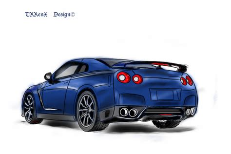 nissan skyline png nissan skyline r35 coloured by trrenx on deviantart