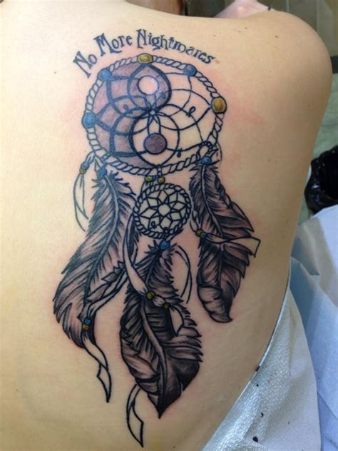 dream catcher tattoo on back 55 amazing catcher shoulder tattoos