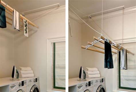 marvelous wall mounted clothes drying rack  laundry room