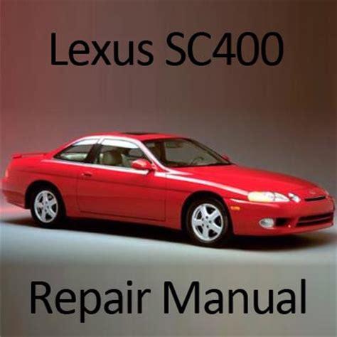 free online auto service manuals 2000 lexus sc electronic toll collection lexus sc400 1991 2000 repair manual