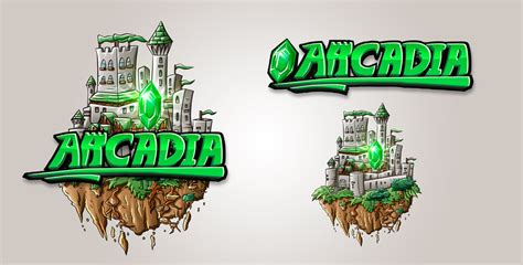 minecraft server logo design arcadia by finsgraphics on