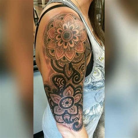 mandala tattoo arm girl mandala flower tattoo on sleeve creativefan