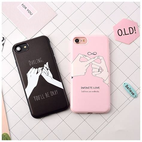 fashion letter for iphone 7 for iphone7 7 plus 6 6s back cover two promise
