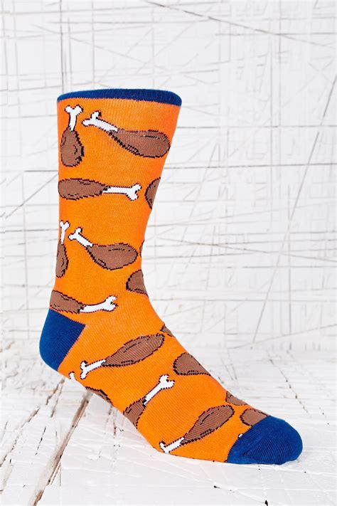 Chicken Socks by Outfitters Chicken Socks In Orange For Lyst