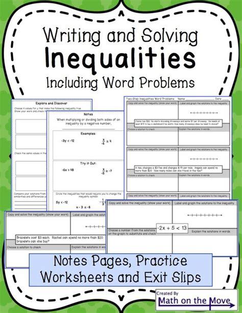 Writing Inequalities Worksheet by Linear Inequalities Word Problems Worksheet Pdf
