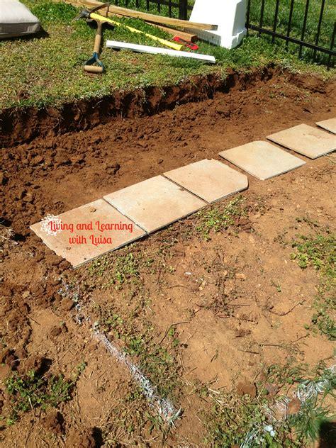 building garden beds   slope