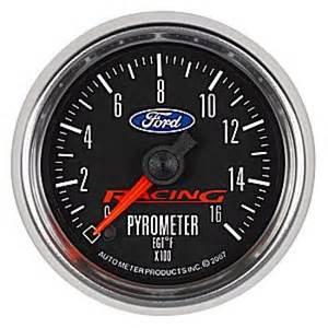 Ford Racing Gauges Auto Meter Ford Racing Sweep Pyrometer 2 1 16
