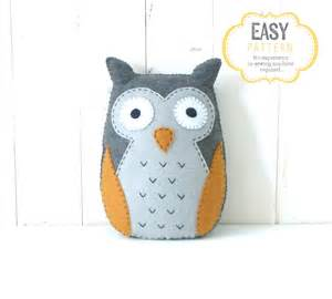 owl templates for sewing owl sewing pattern felt stuffed owl plushie sewing