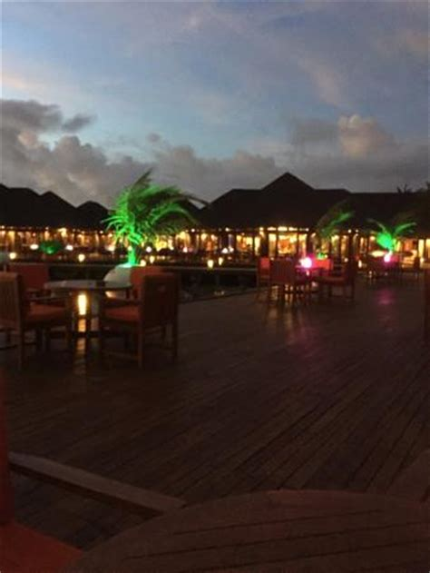 Restaurant at night   Picture of Olhuveli Beach & Spa