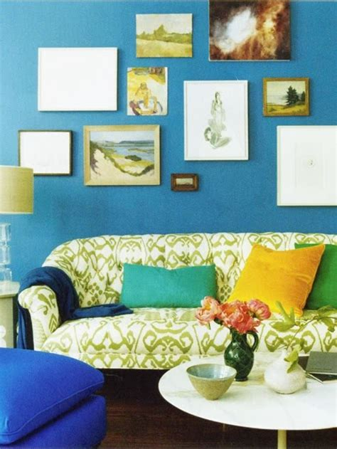 bright living room colors 20 best images about dark blue walls orange couch on
