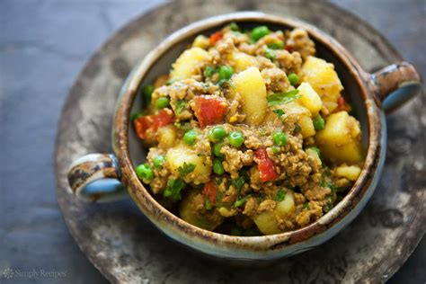 recipes with rice and ground turkey curried ground turkey with potatoes recipe simplyrecipes