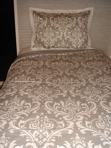 Gray Damask Bedding by Grey Damask Custom Room Bedding Decor 2