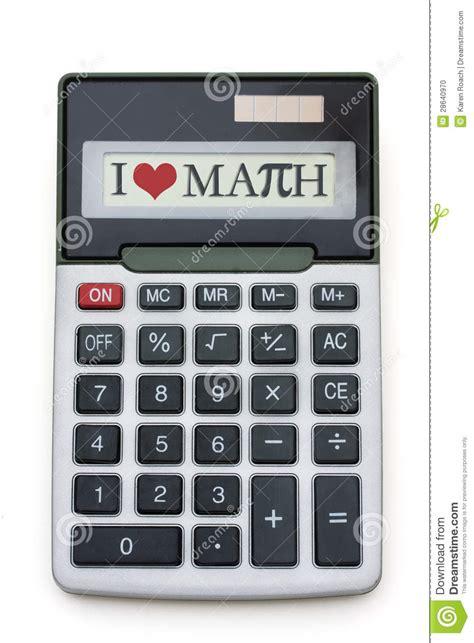 calculator math i love math calculator stock photo image of overwhite