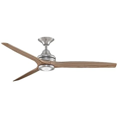 spitfire ceiling fan review 60 quot spitfire brushed nickel led ceiling fan
