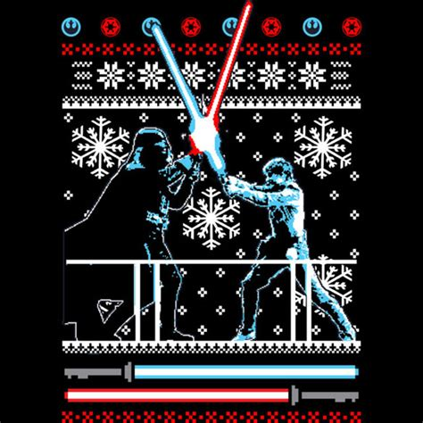 star wars christmas duel t shirt