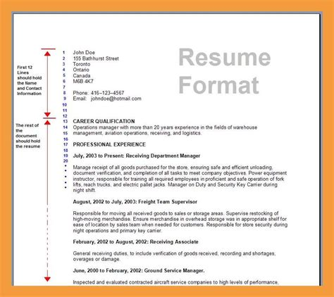 Standard Cv Template by Standard Resume Format Resume Template Easy Http Www