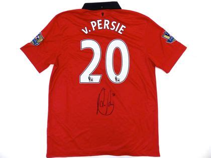 Jersey Mu Rvp charitybuzz autographed robin persie manchester united 2013 2014 lot 371263