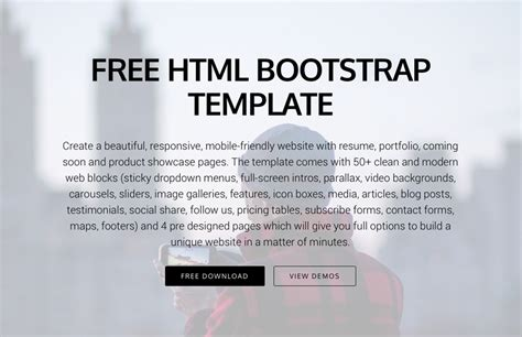 10 Most Promising Free Bootstrap 4 Templates For 2017 Medialoot Bootstrap 4 Templates Free