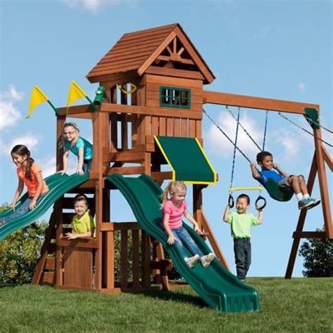 swing sets with installation included yardline play systems timber peak playset installation