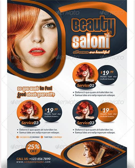 69 Best 66 Beauty Salon Flyer Templates Images On Pinterest Ai Illustrator Beauty Salons And Salon Flyer Templates Free