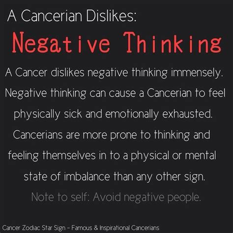 dislike negative thinking the life of a cancer
