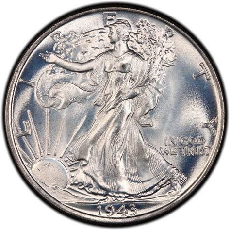 1943 walking liberty half dollar values and prices past sales coinvalues com