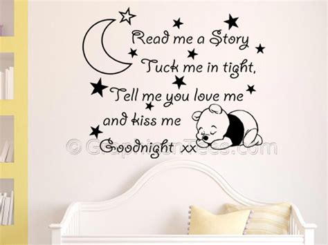 Boy Bedroom Wall Stickers read me a story nursery wall sticker quote with sleeping