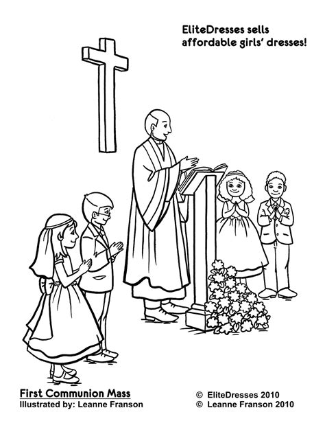 Holy Communion Printable Coloring Pages by Communion Coloring Printables Firstcommunion Coloring