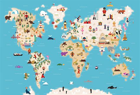 map world mouments 40 creative remakes of the world map hongkiat