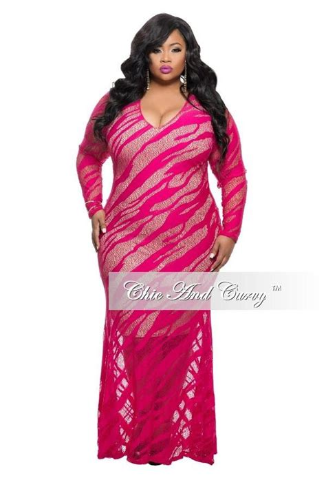 Drss 899 Dress Lace Pink new plus size lace dress in pink chic and curvy