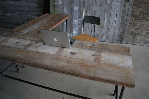 reclaimed wood l shaped desk 17 best images about reclaimed desk ideas on pinterest